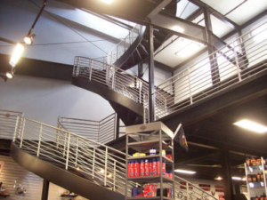 Specialty Welding & Fabricating Inc. of New York has worked with architectural and engineering firms to create one-of-a-kind curved staircases in our 130,000 s.f. fabrication shop.
